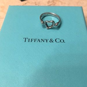 Tiffany & Co. Open Heart Ring, size 5.5